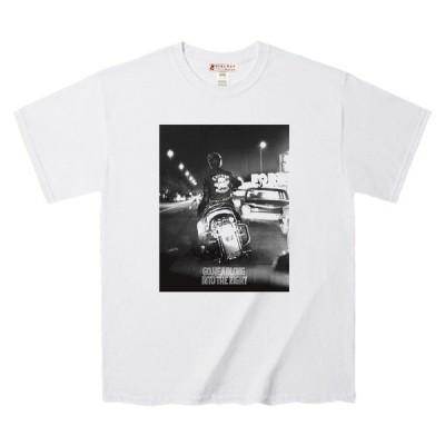 Tシャツ アメリカンバイカーを後姿フォト デザインTee