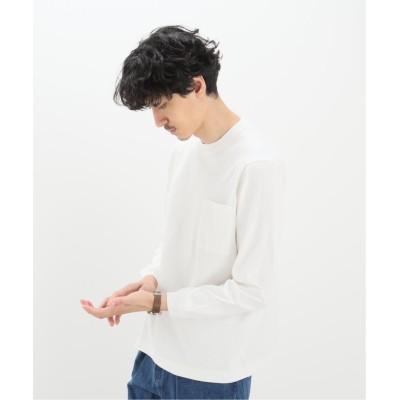 【エディフィス】 コットンジャージークルーネックTシャツ メンズ ホワイト S EDIFICE