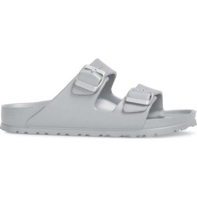 ビルケンシュトック BIRKENSTOCK レディース サンダル・ミュール スライドサンダル シューズ・靴 Essentials Arizona Waterproof Slide Sandal Metallic Silver
