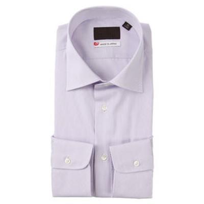 【JAPAN MADE SHIRTS】ワイドカラードレスシャツ ストライプ