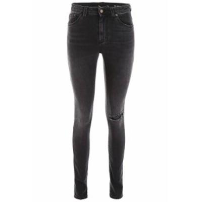 SAINT LAURENT PARIS/イヴ サンローラン デニムパンツ DIRTY MEDIUM BLACK Saint laurent five pockets jeans レディース 秋冬2019 59014