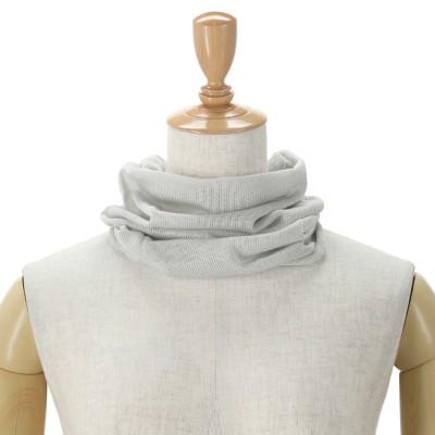 ルナジュメール 日本製 シルク100%ネックカバー ムジ