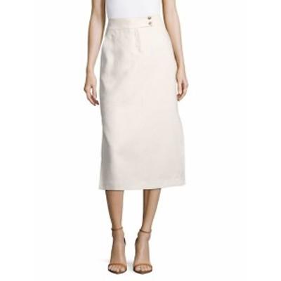 ラファイエット148ニューヨーク レディース スカート Ramona Solid Linen Skirt