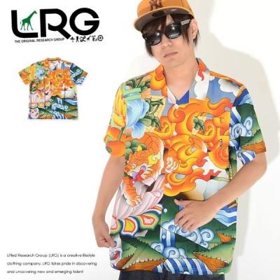 LRG エルアールジー 半袖シャツ 総柄 アジアンデザイン ビッグイラスト (E202001) セール