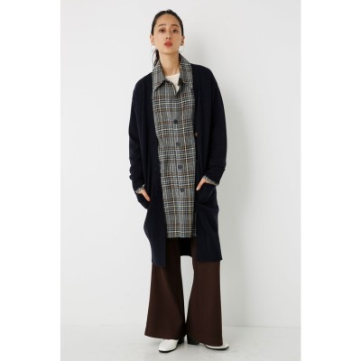 Slit Long Knit CD NVY