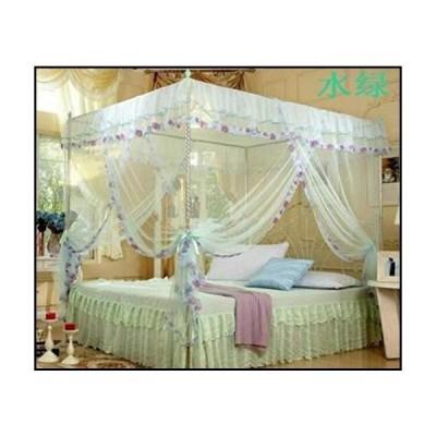【新品】MJYJL Mosquito net 4 Corner Post Bed Canopy Mosquito Twin Sizes Netting (No Bracket)-Light Green_1.2m (4 feet) Bed