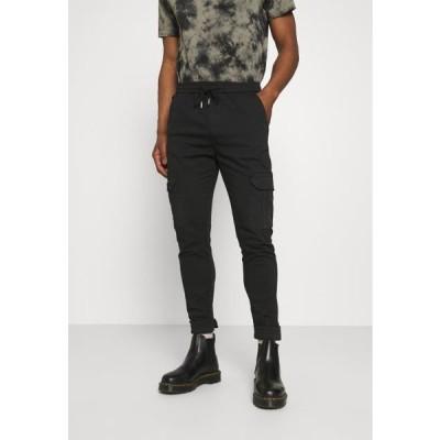 ブレイブソウル メンズ ファッション CREW - Cargo trousers - black