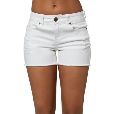 オニール O'NEILL レディース ショートパンツ デニム ボトムス・パンツ Cody Denim Shorts White