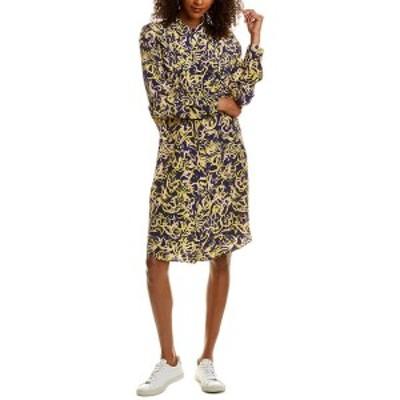 ダイアン フォン ファステンバーグ レディース ワンピース トップス Diane von Furstenberg Aliana Silk Shirtdress -