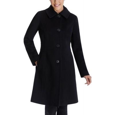 アン クライン Anne Klein レディース コート アウター Club-Collar Walker Coat Black