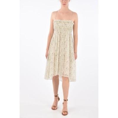 CHLOE/クロエ White レディース floral-print silk spaghetti strap sun dress dk