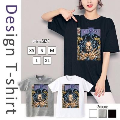 Tシャツ レディース 半袖 トップス ブランド ユニセックス メンズ プリントTシャツ プロレス