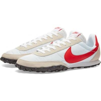 ナイキ Nike メンズ スニーカー シューズ・靴 waffle racer White/Red/Platinum/White