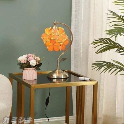 ステンドグラスランプ 桜 5色 インテリアライト 贈り物 テーブルランプ 雰囲気ランプ ベッドサイド 癒しグッズ ステンドグラス 枕元スタンド 父の日