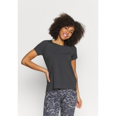 アンダーアーマー シャツ レディース トップス ISO CHILL RUN - Print T-shirt - jet gray