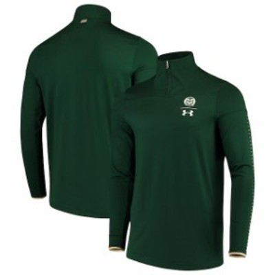 Under Armour アンダー アーマー スポーツ用品  Under Armour Colorado State Rams Green 2018 Sideline 1/4 Zip Performance Jacket