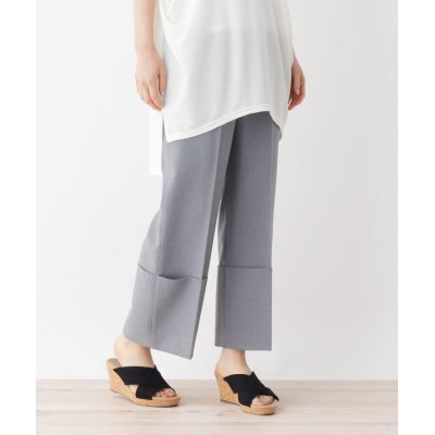 ZAMPA(ザンパ) 裾折り返しクロップドセンタープレスパンツ