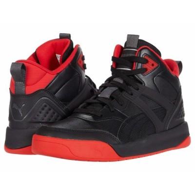 プーマ スニーカー シューズ メンズ Backcourt Mid Puma Black/Puma Black/High Risk Red/Dark Shadow/Puma Silver