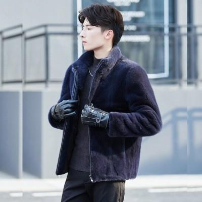 毛皮コート防寒 メンズ 男性  冬物  上着 暖かい 美品  コート  ジャケット 上質 フェイクファー ファッション ファー ショートコート アウター 人気 おしゃれ