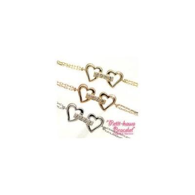 ダイヤモンド ブレスレット k10ゴールド ホワイトゴールド ピンクゴールド イエローゴールド ブレス ハート レディース