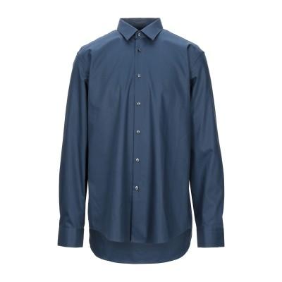 BOSS HUGO BOSS シャツ ブルーグレー 43 コットン 100% シャツ