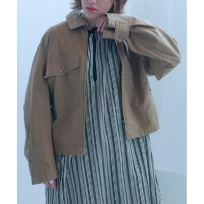 Hunch / 綿スラブツイル エアフォースジャケット WOMEN ジャケット/アウター > ミリタリージャケット