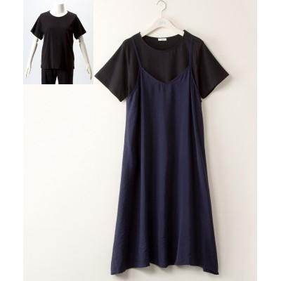 大きいサイズ 2点セット(プルオーバー+ワンピース)【bi abbey】 ,スマイルランド, ワンピース, plus size dress