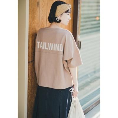 【ハコ】 さらっと1枚でこなれ見えしたい!大人に似合うロゴTシャツ レディース ブラウン 2 haco!