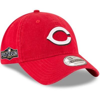 シンシナティ・レッズ キャップ 帽子 MLB ニューエラ New Era 9TWENTY レッド 2020ポストシーズンサイドパッチ アジャスタブル