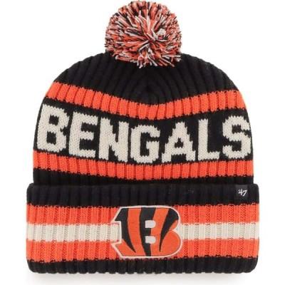 フォーティセブン 47 メンズ ニット 帽子 Cincinnati Bengals Bering Black Cuffed Knit Hat