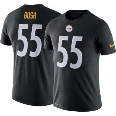 ナイキ Nike メンズ Tシャツ トップス Pittsburgh Steelers Devin Bush #55 Black T-Shirt