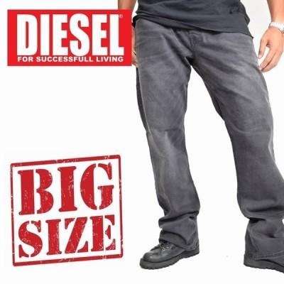SALE 大きいサイズ メンズ ディーゼル Diesel デニムパンツ ジーンズ レギュラー ブーツカット ZATHAN WASH RA468_STRETCH 38 40インチ