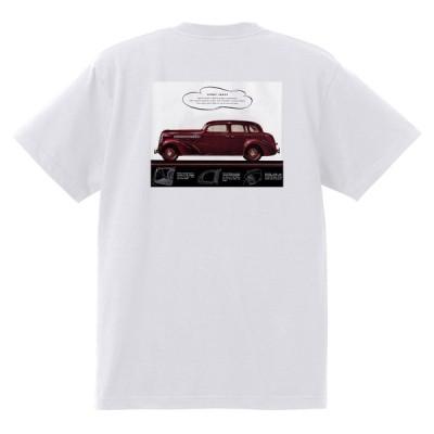 アドバタイジング シボレー Tシャツ 185 白 1938 オールディーズ 1950's 1960's ローライダー ホットロッド マスタートラック