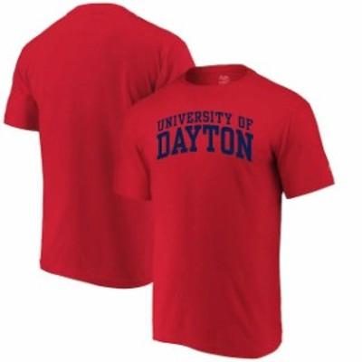 Alta Gracia アルタ グラシア スポーツ用品  Alta Gracia (Fair Trade) Dayton Flyers Red Arched Wordmark T-Shirt