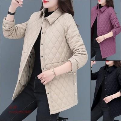キルティングコート コート ブルゾン アウター レディース キルティングジャケット 防風 防寒 軽い