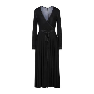 NINA RICCI 7分丈ワンピース・ドレス ブラック 38 レーヨン 93% / ポリウレタン 7% 7分丈ワンピース・ドレス