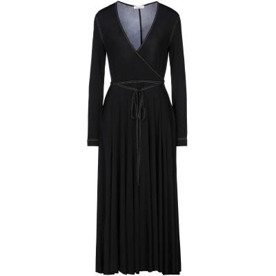 NINA RICCI 7分丈ワンピース・ドレス ブラック 36 レーヨン 93% / ポリウレタン 7% 7分丈ワンピース・ドレス
