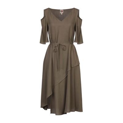 I'M ISOLA MARRAS 7分丈ワンピース・ドレス ミリタリーグリーン 44 テンセル 100% 7分丈ワンピース・ドレス