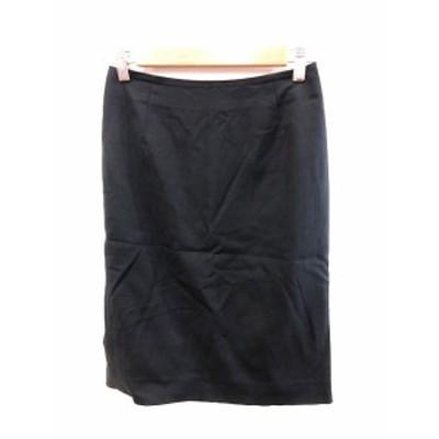 【中古】メイソングレイ MAYSON GREY スカート タイト ひざ丈 1 黒 ブラック /AU レディース