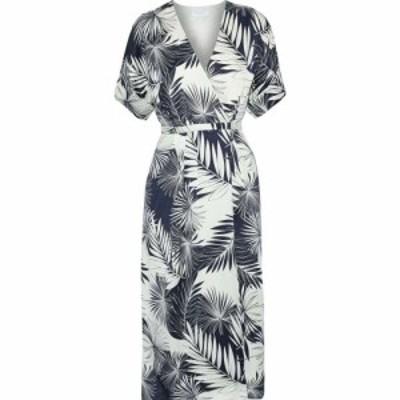 エキプモン EQUIPMENT レディース ワンピース ラップドレス ミドル丈 ワンピース・ドレス tavine printed washed-silk midi wrap dress S