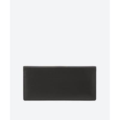 <大峽製鞄/オオバセイホウ> かくしカード段付き長財布 BK*RD【三越伊勢丹/公式】