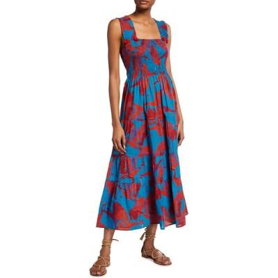 フィギュー レディース ワンピース トップス Luella Poplin Ankle-Length Dress