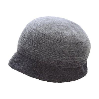 軽くてふんわり・こだわりウール帽子 (ダークグレー)