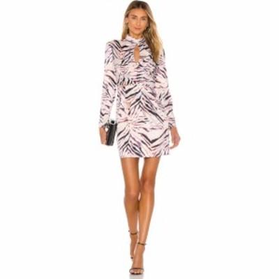ケンダルandカイリー KENDALL + KYLIE レディース ワンピース ワンピース・ドレス Shirred Neck Keyhole Dress Zebra