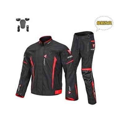 バイク用 ジャケット&パンツセット [ソッミ] SOMMY プロテクター付き オックスフォード 保護力 防水 防寒 防風