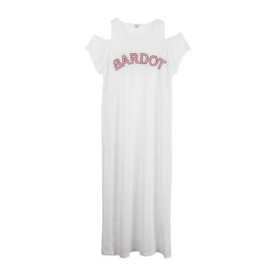 BRIGITTE BARDOT ロングワンピース&ドレス アイボリー S/M 麻 100% ロングワンピース&ドレス