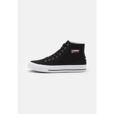 トミージーンズ メンズ 靴 シューズ MID CUT LONG LACE UP - High-top trainers - black