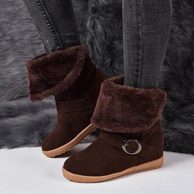 ロングブーツショートブーツ2WAYムートンブーツ裏ボア裏起毛保温性よい雪ブールスノーブーツ筒畳める20代30代40代50代