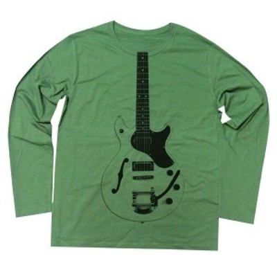 ( 送料無料 ) dial9up イカしたレスポールギターを真ん中にどーんっとプリント デザイン ロングスリーブ Tシャツ guitar