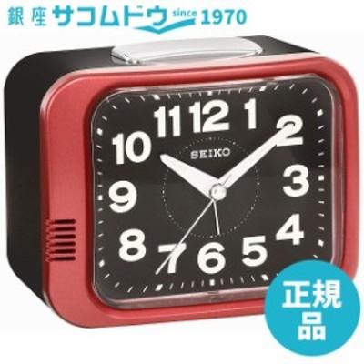 SEIKO CLOCK セイコー クロック 目覚まし時計 アナログ 赤メタリック KR896R